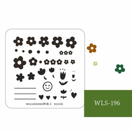 stamp accessories NZ - 1pc Nail Stamping Plates Strawberry Flower Leaves Grass Nail Art DIY Image Plate Stencil Accessories Tool