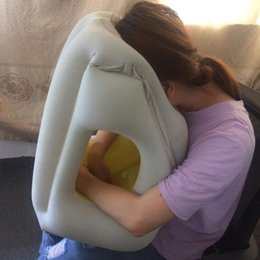 travel pillows for airplanes NZ - Most Fashion Inflatable Travel Pillow For Airplanes Car Train Office School Nap Travel Pillow For neck rest Sleeping cushion