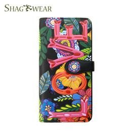 $enCountryForm.capitalKeyWord NZ - Shag Wear Colorful Love Long Wallet Flowers Designer Luxury Handbag Wallet Purse With Coin Pocket Card Holder Money Slot Customized