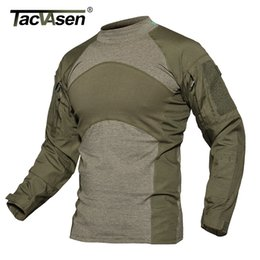$enCountryForm.capitalKeyWord Australia - Tacvasen Men Summer Tactical T-shirt Army Navy Combat Airsoft Tops Long Sleeve Military Tshirt Paintball Hunt Camouflage Clothes J190529