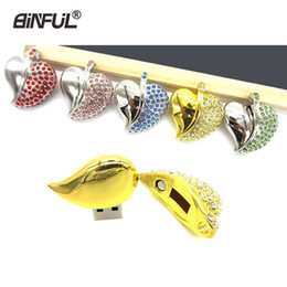 $enCountryForm.capitalKeyWord Australia - Jewelry Usb Necklace Crystal Pendrive Memory Flash Metal U Stick 64gb 32gb 16gb 8gb 4gb High Speed Pen Drive Gift