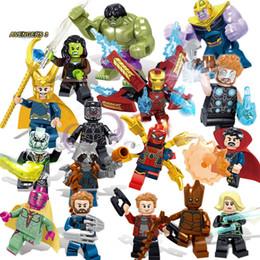 $enCountryForm.capitalKeyWord Australia - 16pcs Super Heroes Bricks Avengers Marvel Building Blocks Infinity War Iron Man Thanos Thor Black Panther Hulk Loki Figures ToysMX190820