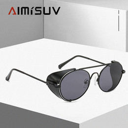 handmade sunglasses Canada - 2020 Steampunk Sunglasses Men Quality Handmade Side Shield New Brand Design Fashion Sunglasses Oculos De Sol UV400
