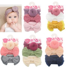$enCountryForm.capitalKeyWord NZ - 3Pcs Lot Summer New Baby Girl Headbands Flower Bows Floral Newborn Hair Accessories Baby Headband Soft Nylon Elastic Haarband