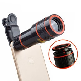$enCountryForm.capitalKeyWord NZ - Clip-on 12x Optical Zoom HD Telescope Flexible Adjustable Camera Lens For iPhone Samsung Xiaomi Universal Mobile Phone EEMIA