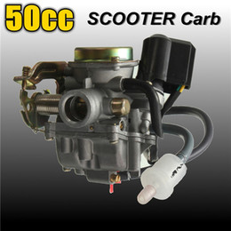 Venta al por mayor de Freeshipping 50CC Scooter Carburador Ciclomotor Carb para 4 tiempos GY6 SUNL ROKETA JCL Qingqi Vento