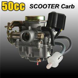 Vente en gros Livraison gratuite 50CC carburateur de scooter pour cyclomoteur pour GY6 à 4 temps SUNL ROKETA JCL Qingqi Vento