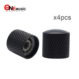 Chinese  4PCS Black Metal Guitar Knob Guitar Knob Push For Fender Tele Guitar MU0746-1 manufacturers