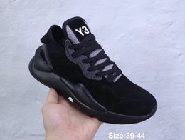 Wholesale 2019 fashion men womens Y3 Ayero sneakers Y QASAELLE STRETCH SAND further luxury products from the designer range Leather Shoes size
