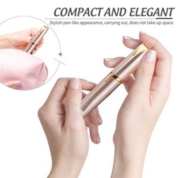 Hair removal instrument online shopping - Hair removal device mini Electriceyebrow knives Electric eyebrow tool Electric trim eyebrow instrument Facial Hair Remover Female