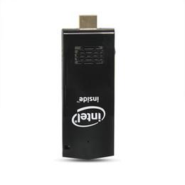 Опт Новый W5 Pro Mini PC Windows 10 OS Мини-компьютер ПК Intel Z8350 2 ГБ / 32 ГБ Компьютерная флешка HDMI WiFi Bluetooth Карманный портативный компьютер МИНИ