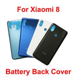 Smartphone Housing Australia - Angcoucoux For Xiaomi Mi8 Mi 8 Smartphone Original Battery Door Back Cover Case Housing Replacement Parts For Xiaomi Mi8 Case
