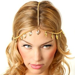 $enCountryForm.capitalKeyWord Australia - Ubuhle 2019 New Gold Leaves Hair Jewelry luxurious Round Sequins Head Chain Fashion Head Jewelry For Women Headband Accessories