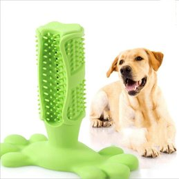 pink dog brush NZ - Dog Toothbrush Toy Brushing Stick Pet Molar Toothbrush for Dog Puppy Tooth Healthcare Teeth Cleaning Chew Toy Brush