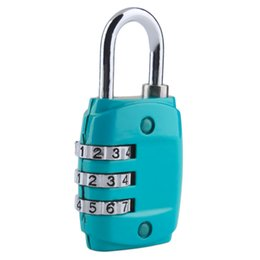 Combination Lock Codes UK - Mini Code Lock Zinc Alloy Security 3 Combination Travel Suitcase Luggage Code Lock Padlock Free shipping zhao