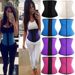 994a5f8c1c2 100% Latex Waist Trainer Corset Steel Boned Women Shapewear Body Shaper  Tummy Control Slimming Belt Waist Cinchers Hot Shapers