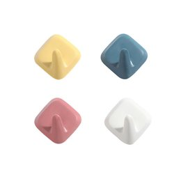 China 4pcs Strong Wall Hook Adhesive Robe Coat Hats Bag Key Holder Hanger Door Storage Sticky Hooks Home Kitchen Bathroom Decor cheap sticky bags suppliers
