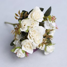 $enCountryForm.capitalKeyWord Australia - Artificial Flower Decoration Silk Party Rose Wedding Bouquet Fake Flower