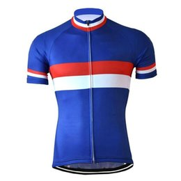 cycling jersey flags Canada - HIRBGOD 2020 New Men Pro Team Cycling Jersey Summer Breathable Bike Shirt Tops France Flag Blue White Red Cycling Clothing,HK859