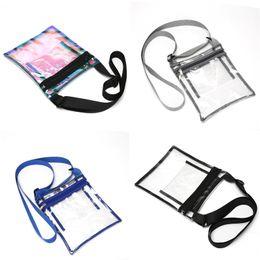 $enCountryForm.capitalKeyWord NZ - Holographic Clear Laser Waist Bag Belt Fanny Pack Crossbody Shoulder Bags Waterproof Handbag Beach Sports Travel Messenger Bags A41801