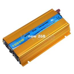 $enCountryForm.capitalKeyWord UK - Freeshipping Solar Inverter 1000W DC20V-45V to AC220V Grid Tie Inverter DC to AC Pure Sine Wave Inverter Golden Color