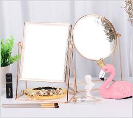 Decorative Metal Wall Australia - Makeup Mirror,Metal Rose Gold Single Make-up Mirror,Vanity Mirror Decorative Mirrors Perfect for Dressing Table
