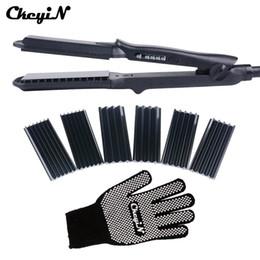 $enCountryForm.capitalKeyWord Australia - 4 In 1 Hair Curling Iron+heat Resistant Glove Ceramic Hair Curler Roller Electric Hair Straightener Crimper Corrugated Curl 42 SH190729