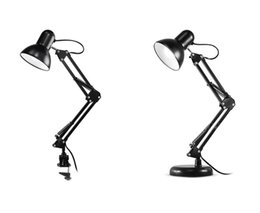 Swing Painting Australia - Flexible American Swing Arm Desk Lamp Interchangeable Base Clamp Classic Architect Clip Table Lamp Multi-Joint Adjustable Arm Black Finish