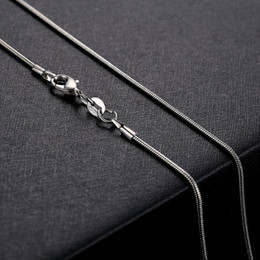 snake chain 1mm 18 Canada - 1mm 925 Silver Snake Chain Necklace 16 18  20 22  24 Inch Silver Lobster Clasp Necklace for Women Jewelry Pendant with chain