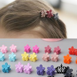 Small Hair Flower Clips Australia - 10 pcs New Fashion Baby Girls Small Hair Claw Cute Candy Color flower Hair Jaw Clip Children Hairpin Hair Accessories Wholesale