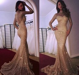 Holiday Evening Gowns Floor Length Australia - Long Sleeves Evening Dresses 2019 Mermaid Bling Sequin Red Carpet Celebrity Holiday Women Wear Formal Party Prom Gowns Custom Made Plus Size