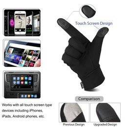 lycra glove Australia - Fashion-Unisex Winter Gloves Soft Sports Antislip Touch Screen Gloves Warm Texting Reflective Printing