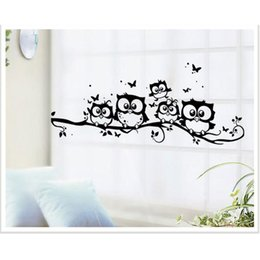 Wholesale Cute Owls On the Tree Wall Stickers Animals Stickers Butterfly Wall Sticker for Children Room Wall Decals for Baby Room