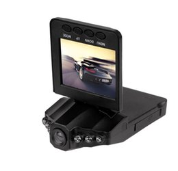 "black video recorder Canada - H198F Recorders 2.5"" Car Dash Cams Car DVR Recorder Camera System Black Box Night Version Video Recorder dash Camera 6 IR LED Cheapest"