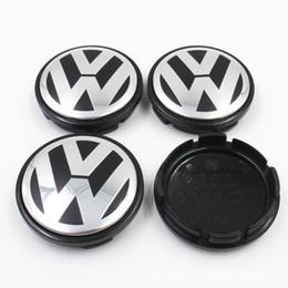 Venta al por mayor de 56MM 65MM Ruedas de centro de rueda de coche Cubiertas Llantas Para Volkswagen Vw Passat B6 B7 Golf 5 7 Polo T4 T5 Touran Tiguan