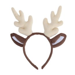 child reindeer antlers UK - Reindeer Antler Hair Hoop Christmas Kids Headband Headwear For Children Christmas Costume Party