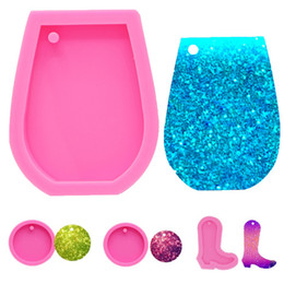 Molds cakes online shopping - Pink DIY Cake Baking Tool Silicone Bakeware Molds For Kids Wine Cup Keychain Shape Sugar Cake Decoration HH9