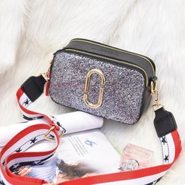 $enCountryForm.capitalKeyWord Australia - Fashion Messenger Bags Snapshot Camera Bag Clutch Lady's box Patchwork Sequins Plaid Wide Shoulder Straps Crossbody Bag