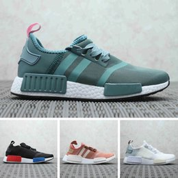 Mens gray casual shoes online shopping - 2019 Discount Cheap pink red gray NMD R1 Primeknit PK Low mens shoes and women casual shoes Classic Fashion designer shoes
