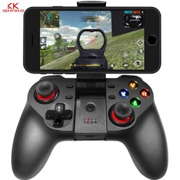 mobile controller 2019 - K ISHAKO 1pcs 2pcs Bluetooth Gamepad Game Pad Controller Mobile Trigger Joystick For Android Cell Phone PC Hand Free Fir