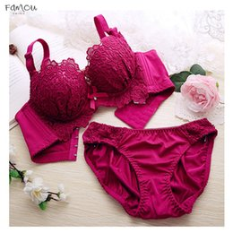 Red white blue bRa online shopping - Push Up Bra Set Sexy Lingerie Women Four Panties Hook And Eye And Bralette Underclothes Female Underwear Embroidery Cotton Bralet Set