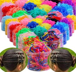 $enCountryForm.capitalKeyWord Australia - 500pcs box Rubber Hairband Rope Silicone Ponytail Holder Elastic TPU Hair Holder Tie Gum Rings Girls Hair Accessories