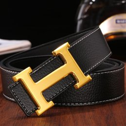 Designer Leather Trousers Australia - WholesaBelts Men and women Packing brand Box Classic retro Designer Luxury Belts Leather Large size BIG buckle Business Trouser Strap Hombre