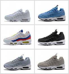 e8f65c5c2f New Ultra 95 OG 20th Anniversary Men Running Shoes Triple Black White Grey 95s  Sports Sneakers Designer air Mens Trainers Chaussures 36-46