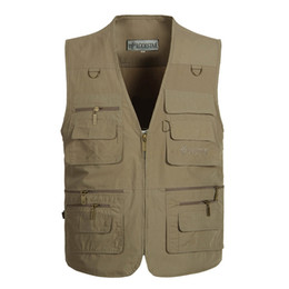 $enCountryForm.capitalKeyWord UK - New men's middle and old aged thin vest outdoor multi-pocket fishing vest