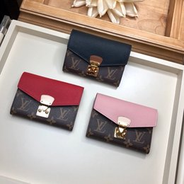 best brand leather purses UK - Classic best wallet with box women brand Genuine Leather square wallet leather purse women Money card holder M67479 13-9.3-1