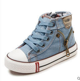 kids denim canvas shoes Canada - Children Casual Shoes 2020 Spring Autumn Expert Skill Boys Girls Sport Shoes Breathable Denim Sneakers Kids Canvas Baby Boots
