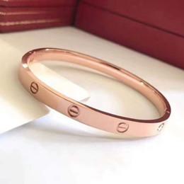 $enCountryForm.capitalKeyWord NZ - Hot 316L Titanium Steel Love Bracelets silver rose gold h Bangles Women Men Screw Screwdriver Bracelet Couple Jewelry with original box set