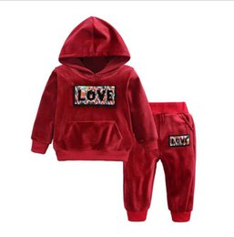 jackets tracksuits Australia - B1 Hot sale fashion kids tracksuits 2019 autumn Children's clothing sport suit print letter kids long sleeve jacket and pants
