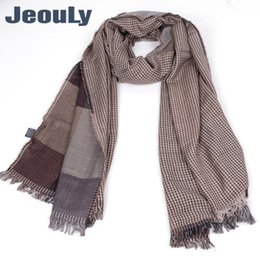 purple plaid scarf Australia - luxury- JeouLy Brand Winter Scarfs For Men New Design Fashion Plaid Scarf for Man Cozy Warm Long Lattice Dyed Tassel Scarves Free Shipping